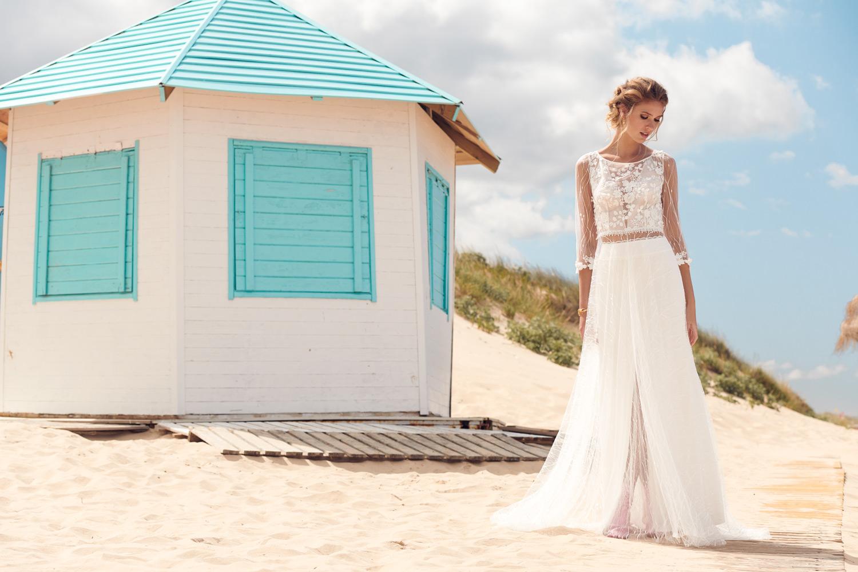 Heartbeat bridal dress